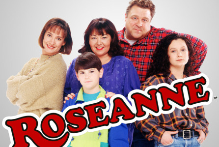Roseanne:  Laurie Metcalf, Michael Fishman, Roseanne, John Goodman and Sara Gilbert  (from left)