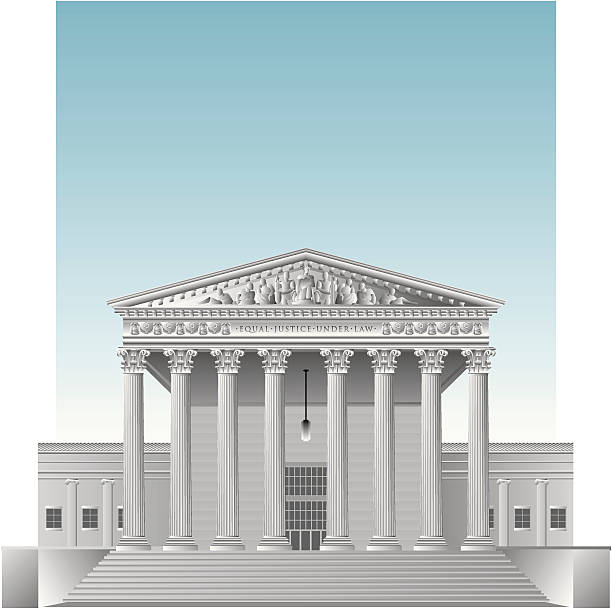 A highly detailed vector illustration of the US Supreme Court building. (Made up of well over 1,000 pieces.)