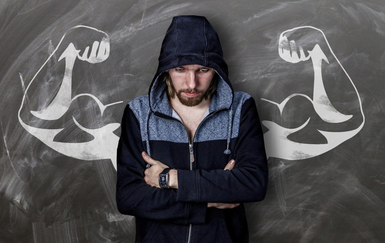 man-hoodie-biceps-art